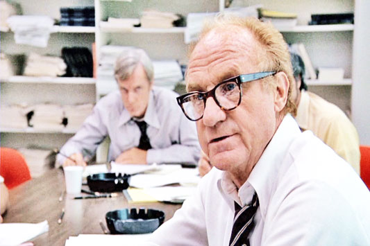 "As a journalist, I didn't even come close to Woodward and Bernstein, but I did once work for one of their Watergate editors, Harry Rosenfeld, who was played in ""All The President's Men"" by Jack Warden, above."