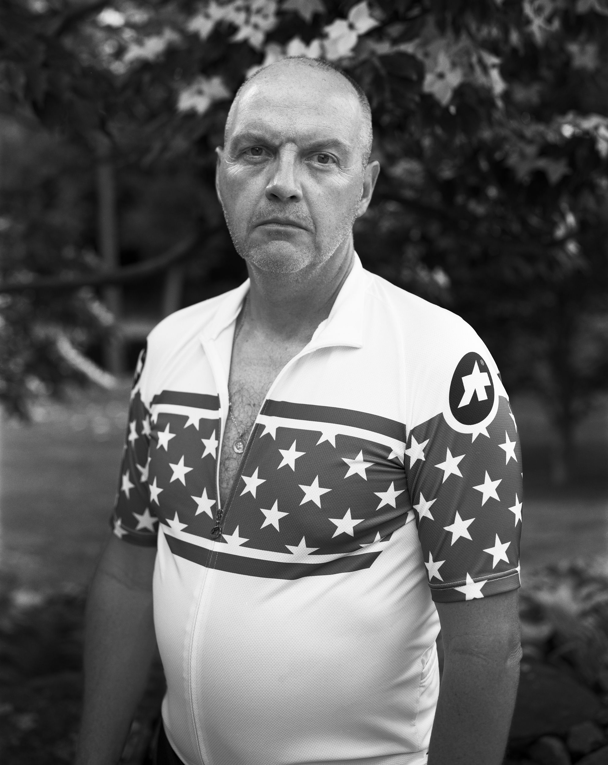 Me after a training ride. No one told me to smile or suck in my gut.