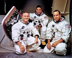 Frank Borman, William Anders and James Lovell, the crew of Apollo 8.