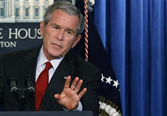 President Bush at a March 21, 2006 press conference.