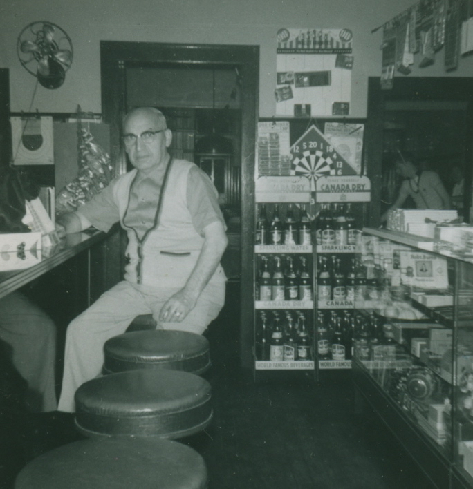 Frank Borrelle in his pool hall on Warren Street in Hudson, New York.
