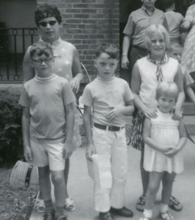 My pants in summer rule started young...that's me in the center with my siblings and mother.