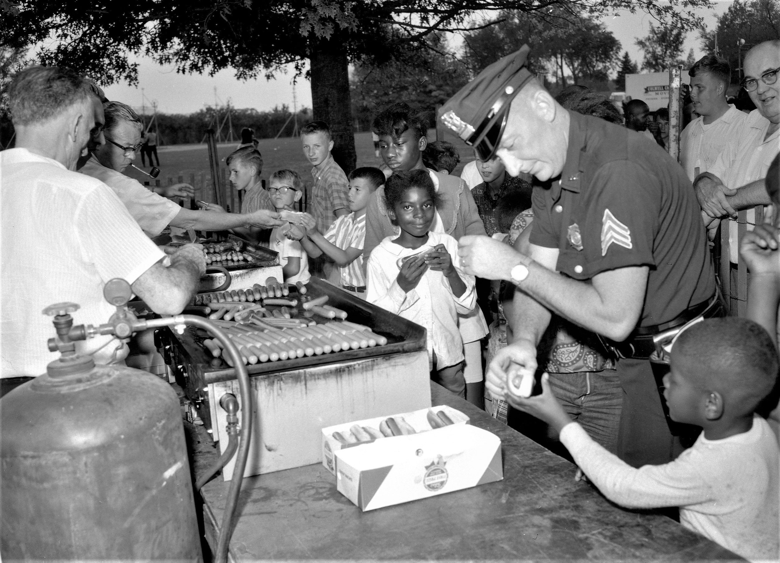 Hudson Police Youth Day at the then Hudson High School field, 1964. Photo by Howard Gibson.