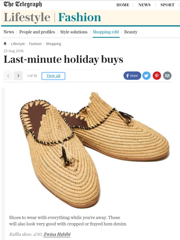 The Telegraph Fashion Online - 23rd August 2016
