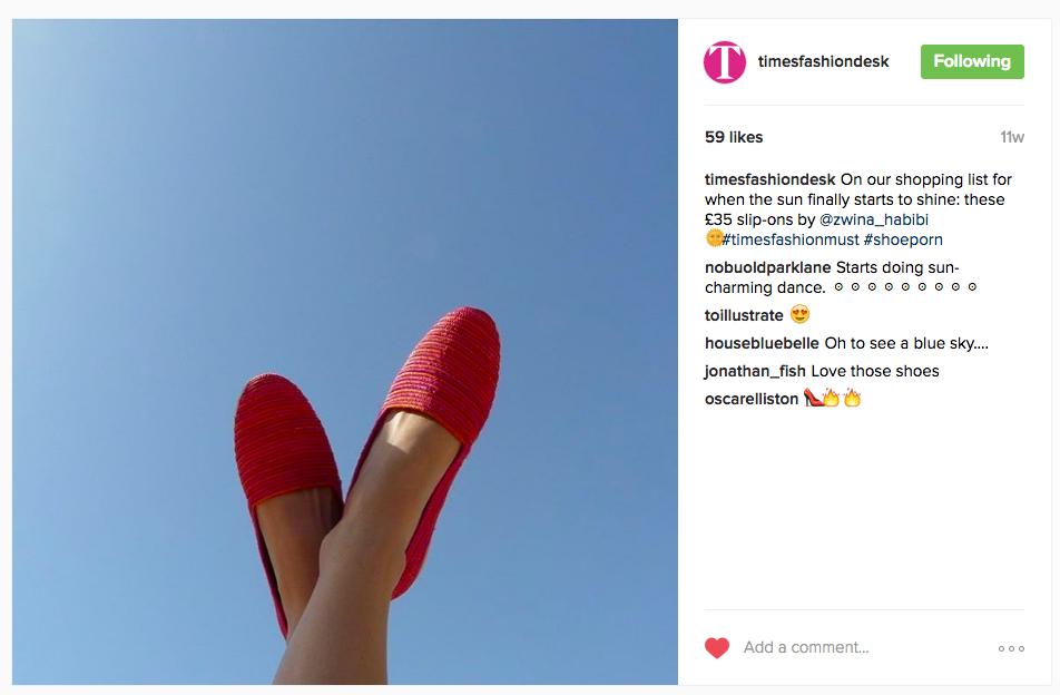 The Times Fashion Desk Instagram - 20th June 2016