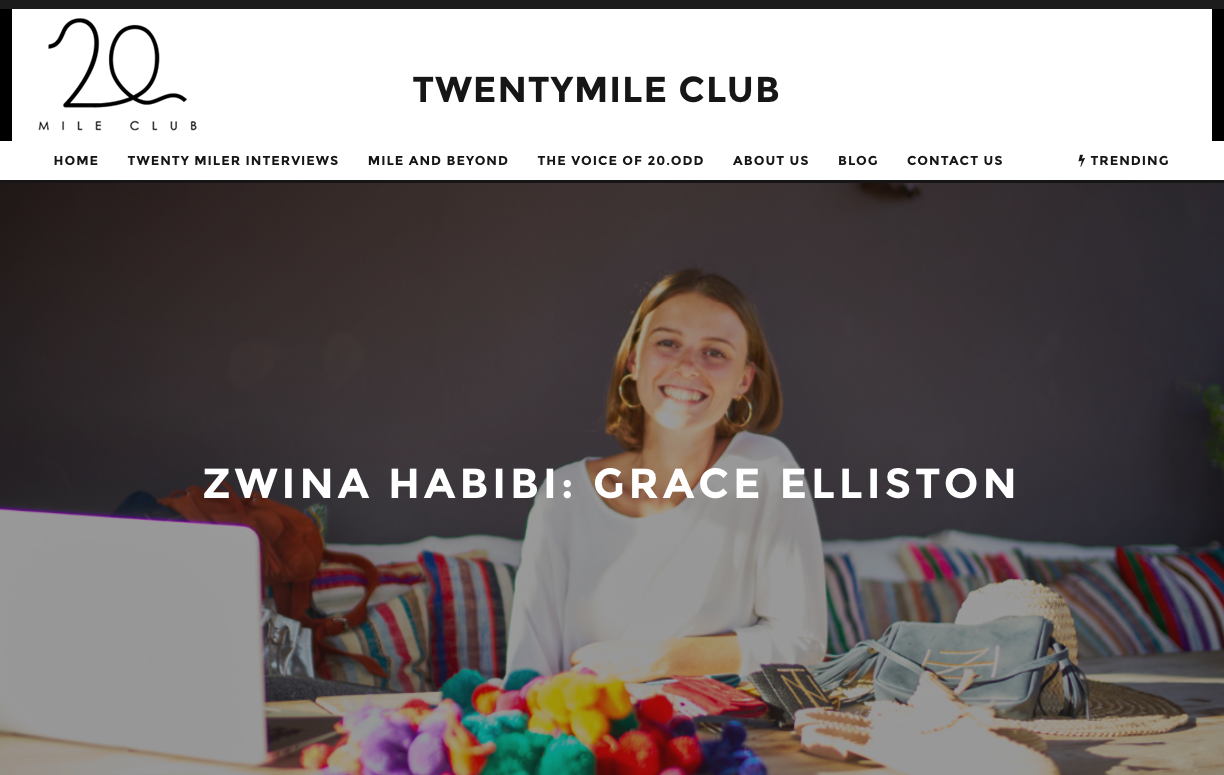 The Twenty Mile Club - Interview with founder Grace Elliston, 6th October 2016
