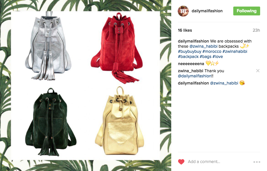 Daily Mail Fashion Desk Instagram 17th November 2016