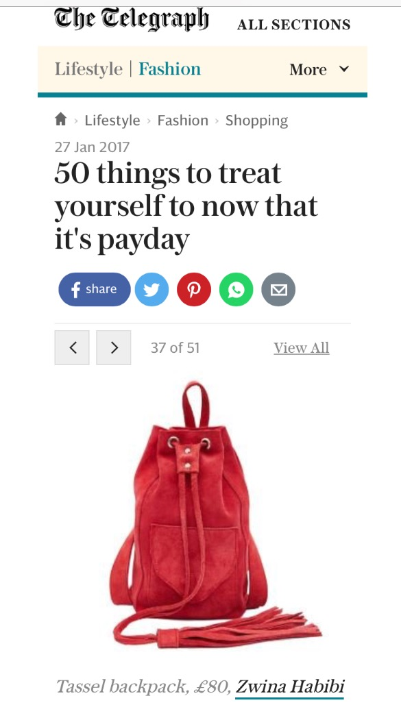The Telegraph Fashion Online - 27th January 2017