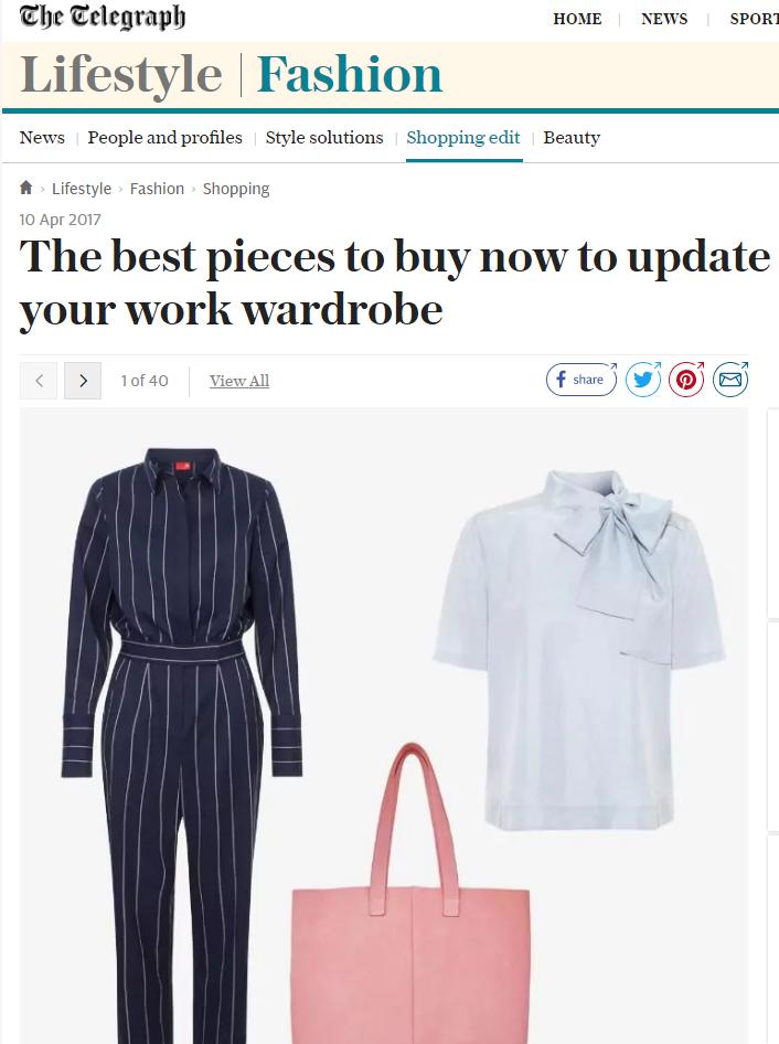 The Telegraph Fashion Online - 10th April 2017