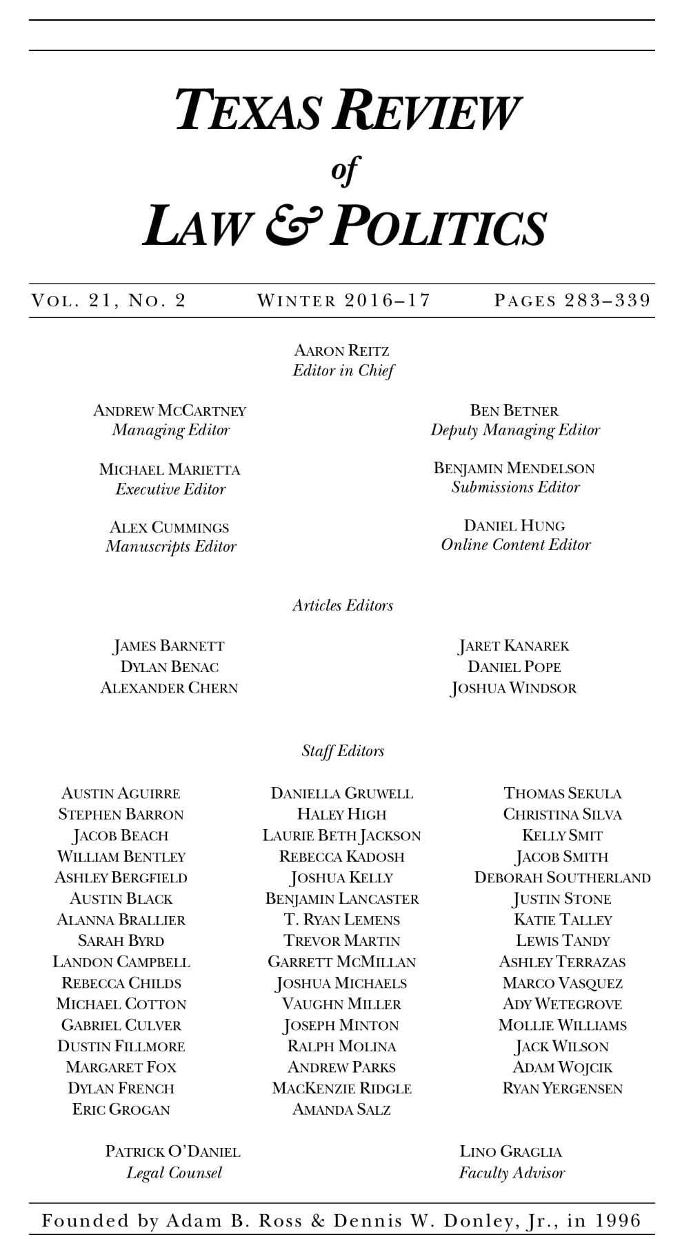 Vol 21 No 2