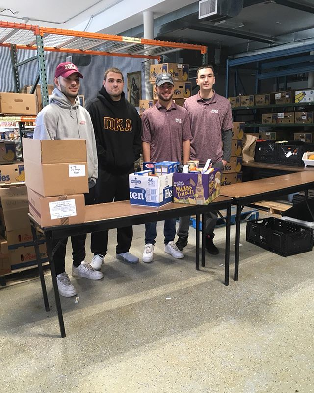 We're sending out a special thank you to the brothers of URI's Pi Kappa Alpha chapter who collected 53 lbs. of food from the campus food drive they hosted to donate to RICAN