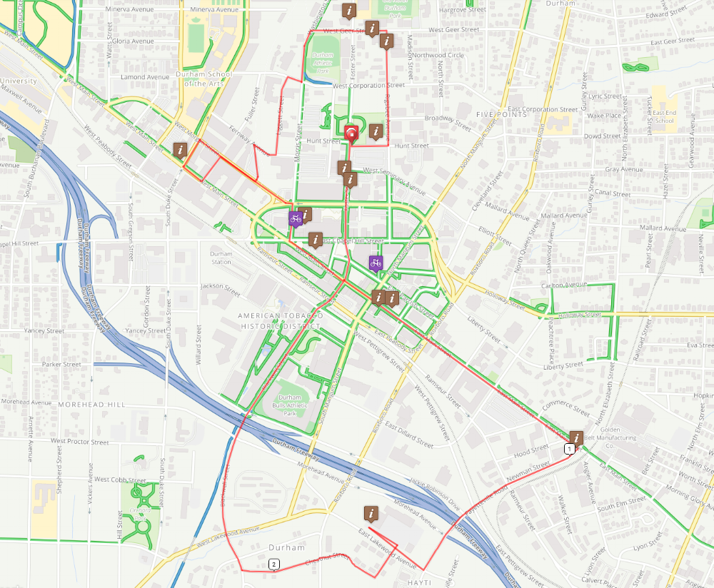 Bike Tour Map - See what you're in for or go on a self-guided tour