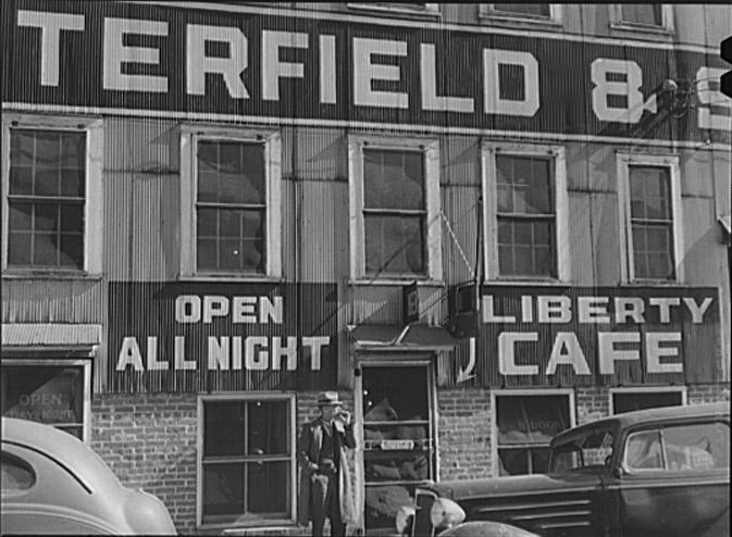 Liberty Cafe, 1940 via Library of Congress