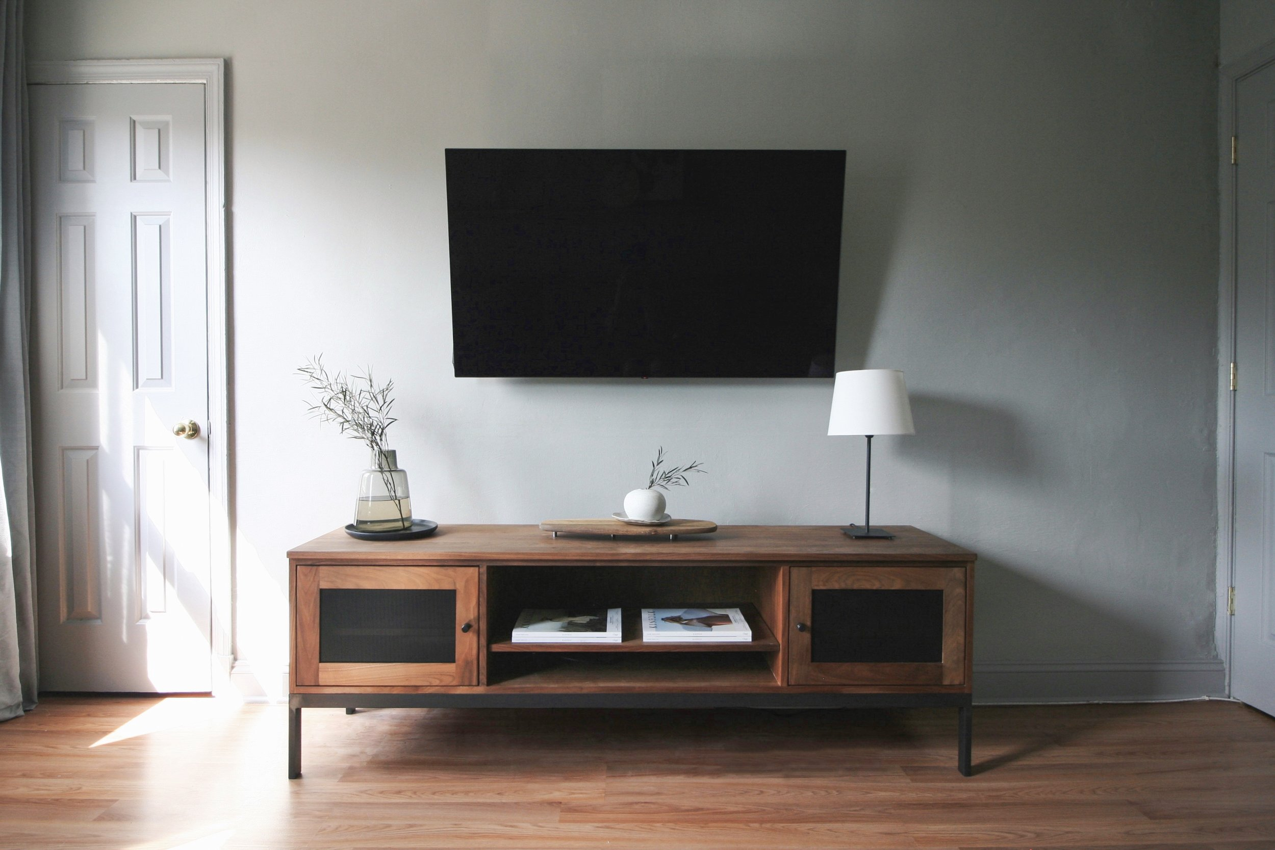 In love with this media table from Room and Board