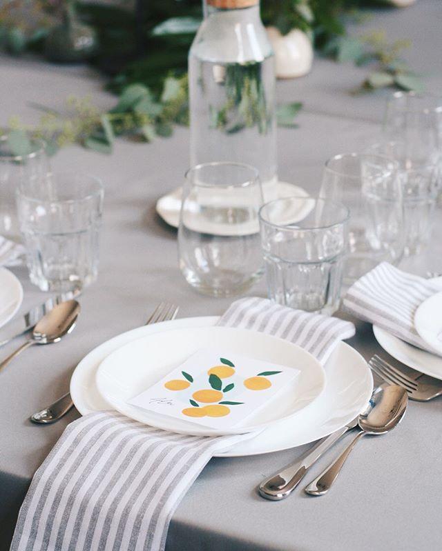 Summer table 🍊🌿✨