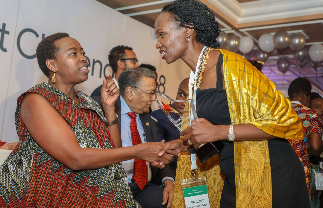 Sheila Waruhiu the Country Director APP Kenya (right), with Her Excellency Mrs. Rachel Ruto.