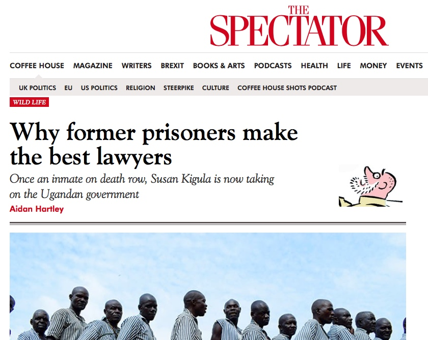 Article – The Spectator - Why former prisoners make the best lawyers.