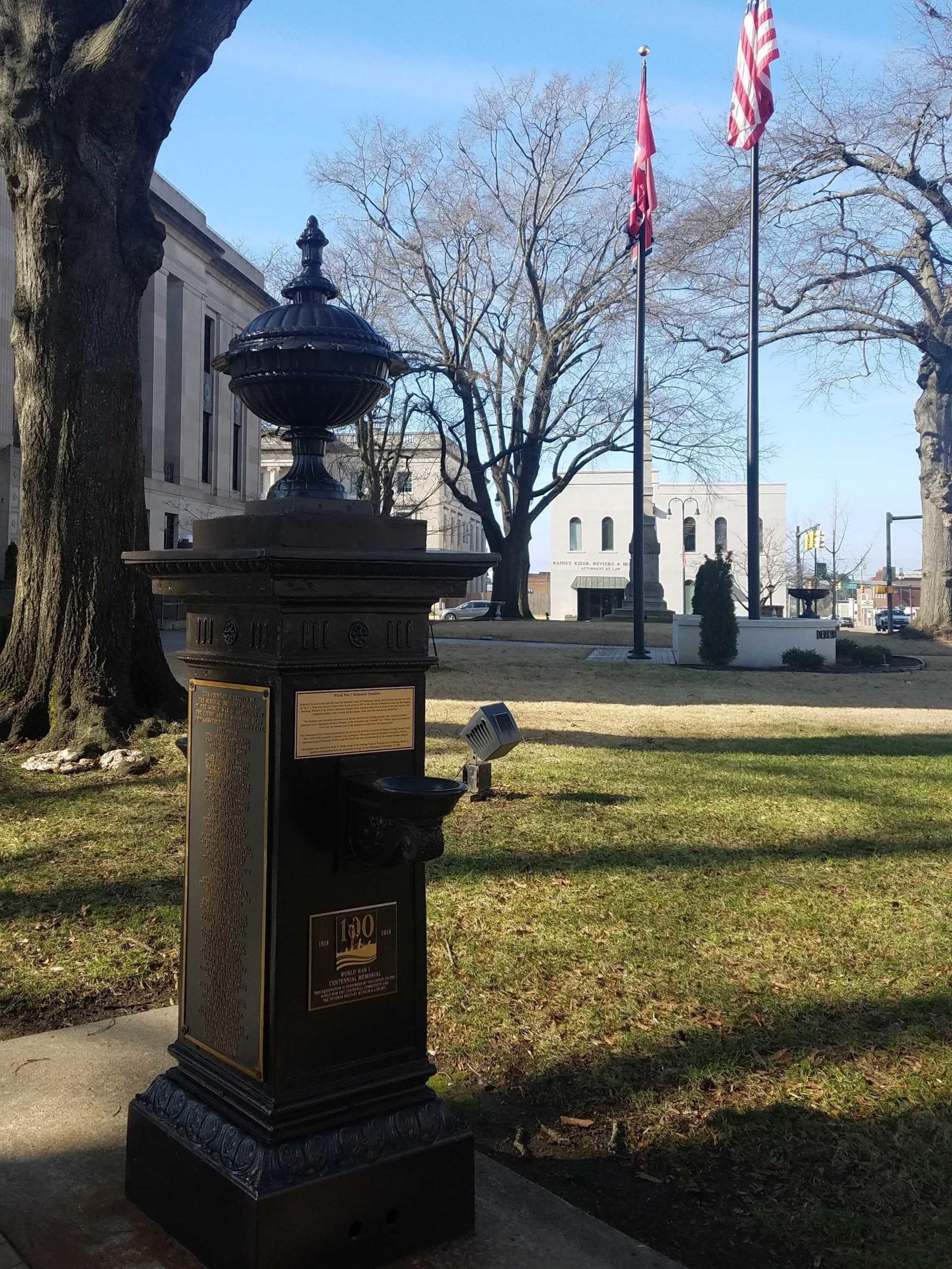 WWI Memorial Fountain