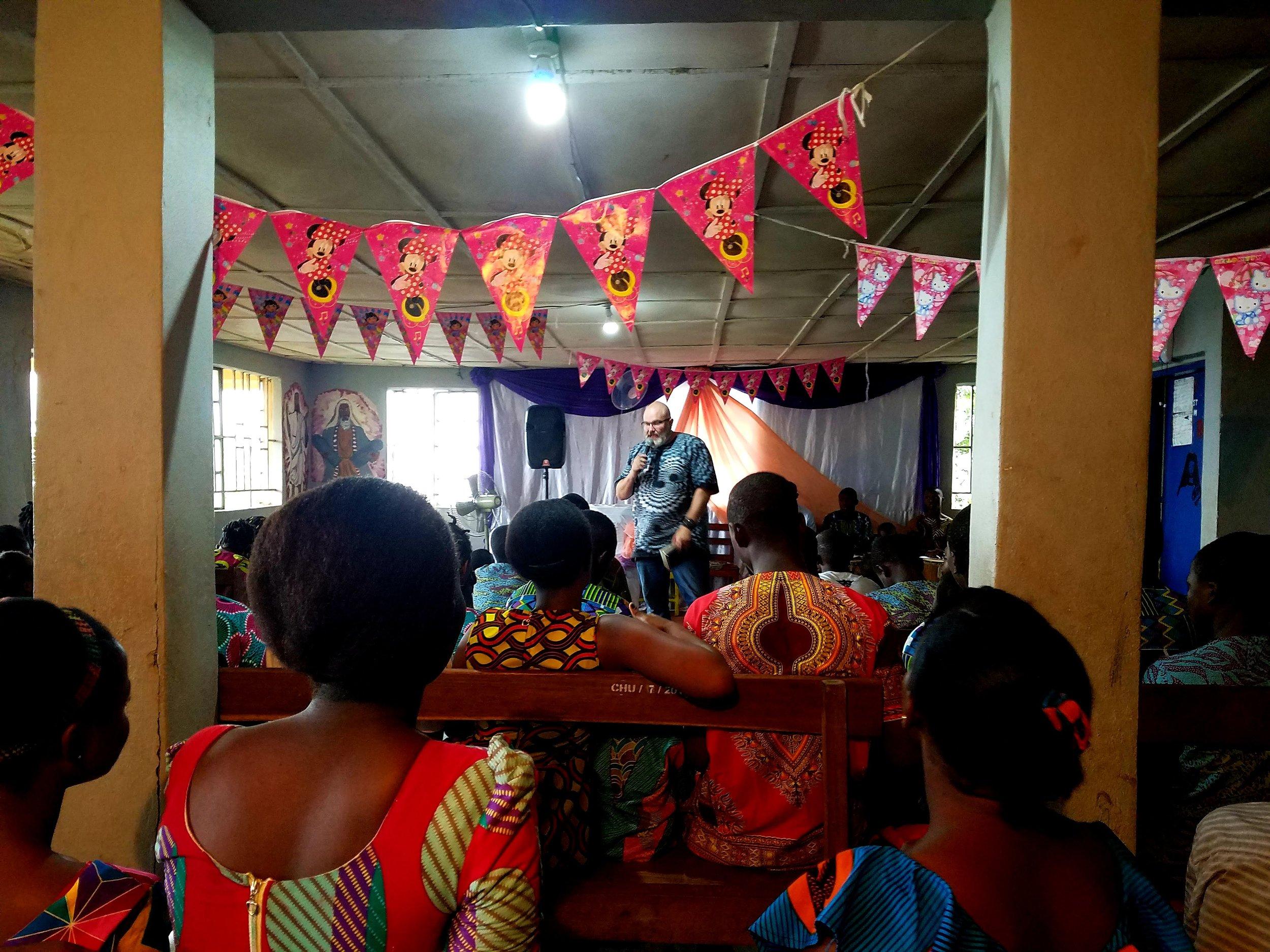 Pastor Russ Preaching