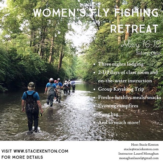 There is still a couple spots left for @staciekenton Women's Fly Fishing Retreat! 🎣🎣🎣 I'm looking forward to teach you all for a few days & passing on my knowledge of the water & fly fishing. LOCAL LADIES: If you're interested in the classroom and on-the-water portion without lodging, let's talk! Message me or comment below.