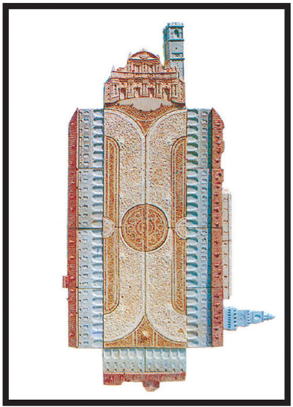 Piaza Ducale, Vigevano   cm. 50 x 70 - € 340,00