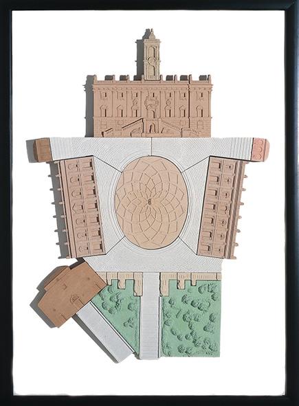 Piazza Campidoglio, ROMA   cm. 50 x 70 - € 340,00