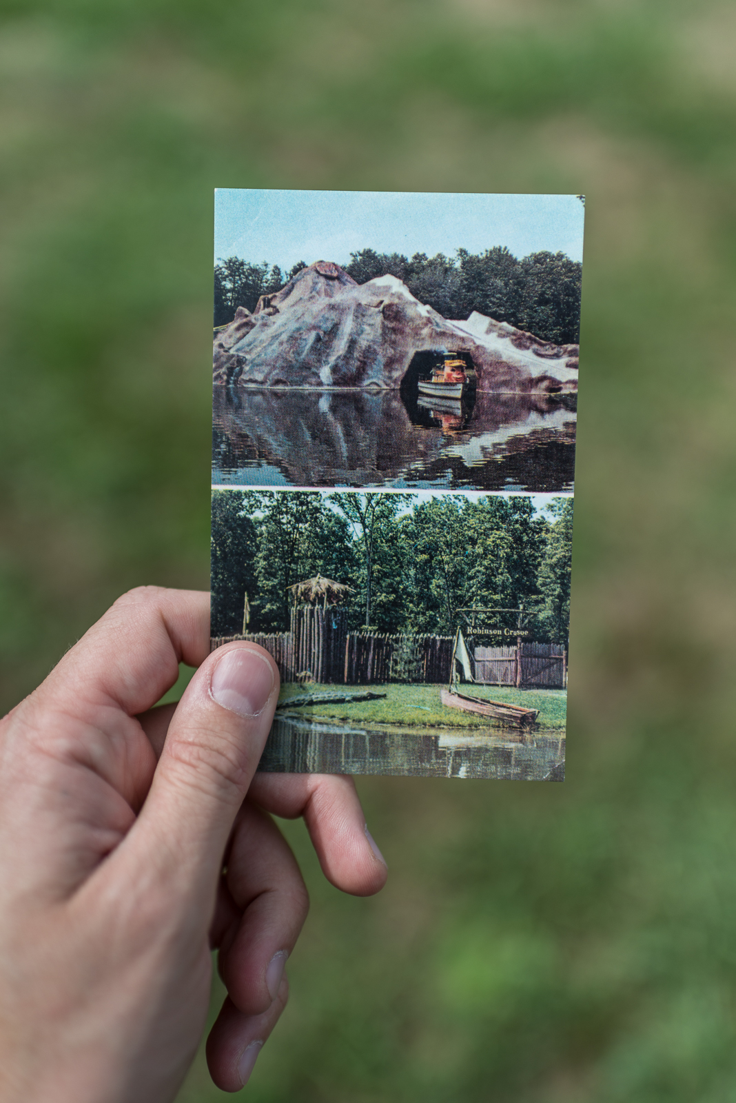 Vintage Postcard of the Volcano at the Enchanted Forest, Ellicott City, Maryland
