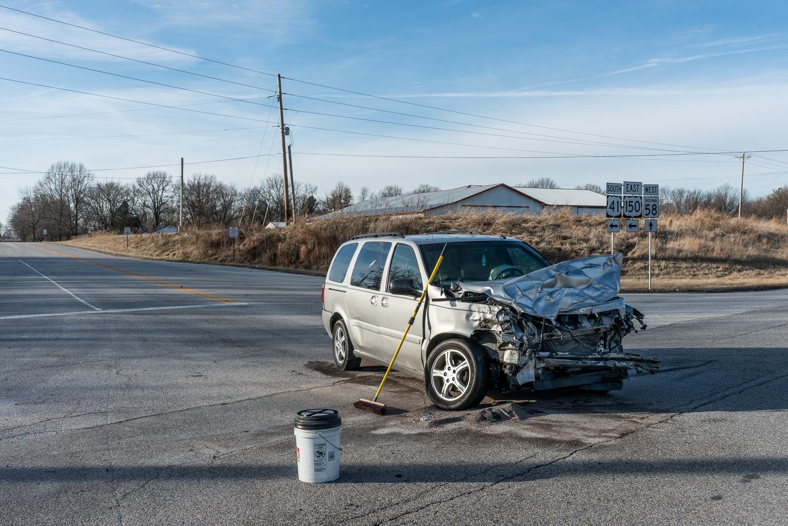 Car Crash, Carlisle, Indiana, 2017