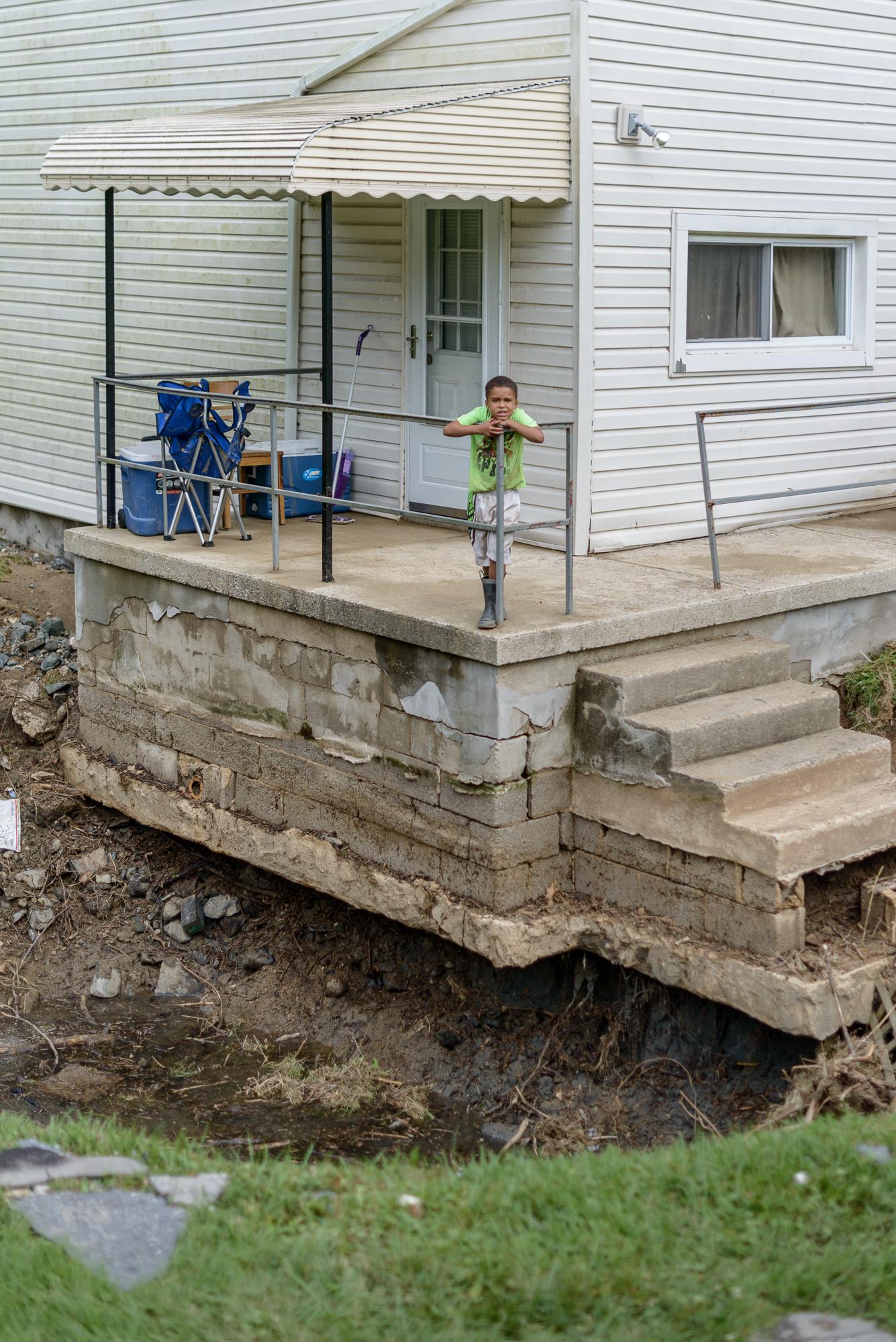 Camari and the Neighbor's Sinkhole, Ellicott City, Maryland, 201