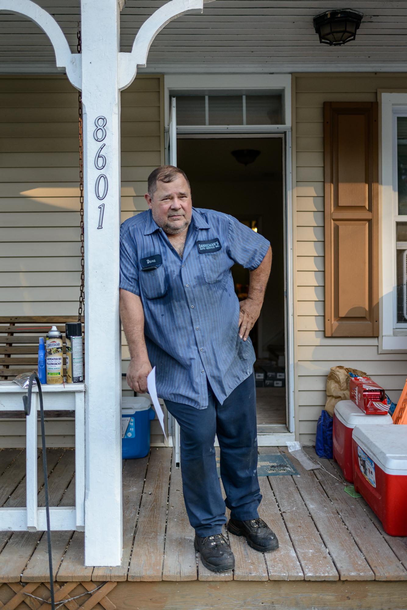 Dave During Flood Renovation, Ellicott City, Maryland, 2016