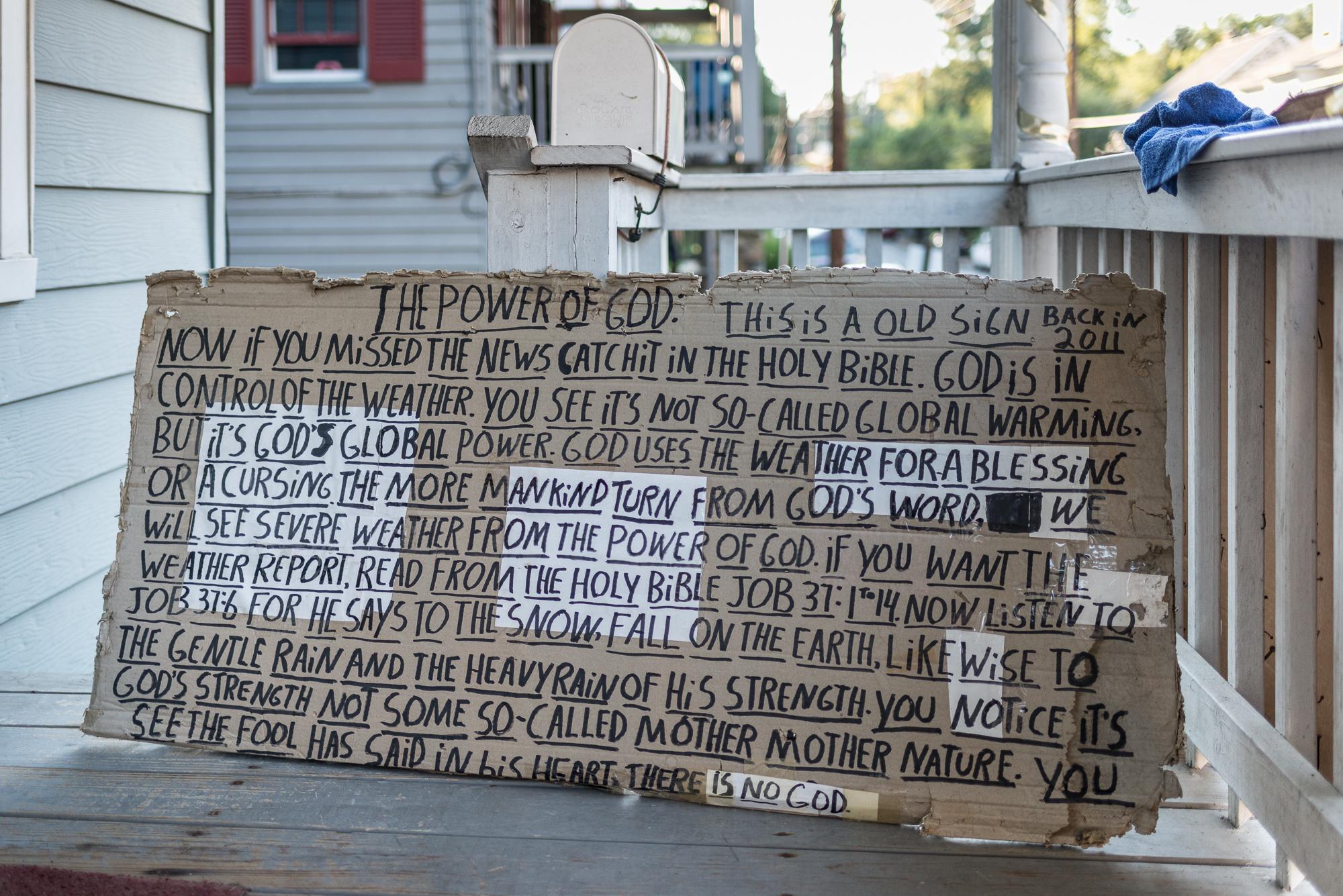 Sign, Ellicott City, Maryland, 2016