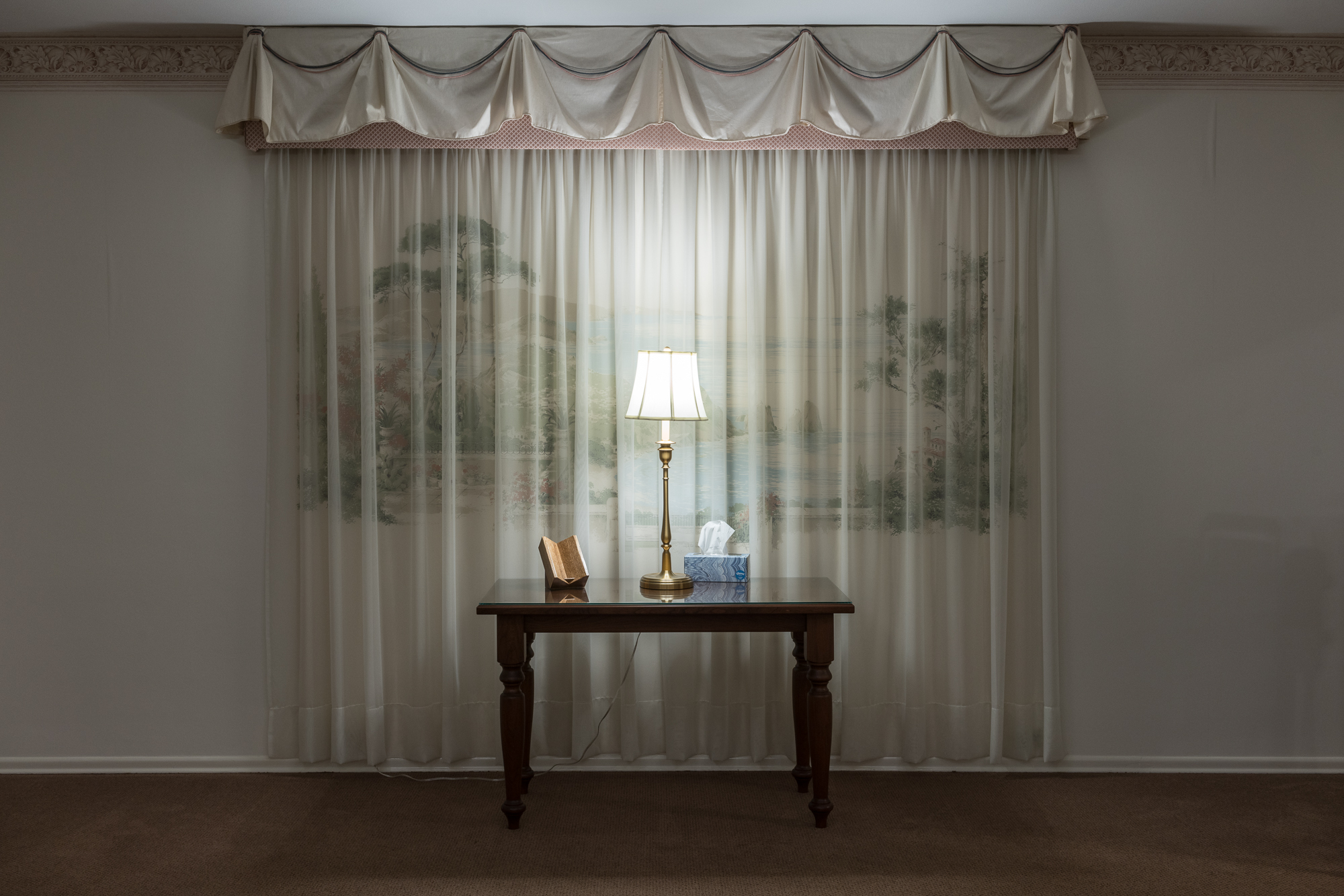 Simulated Window, Moll Funeral Home, Mascoutah, Illinois, 2017