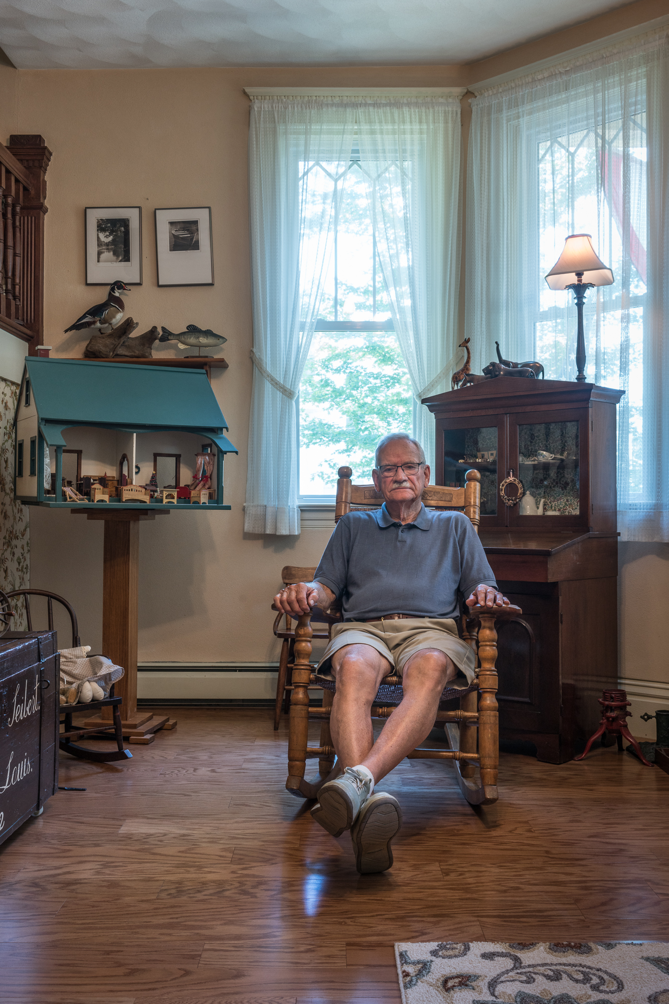 Jack with Doll House Built for his Wife, Mascoutah, Illinois, 20
