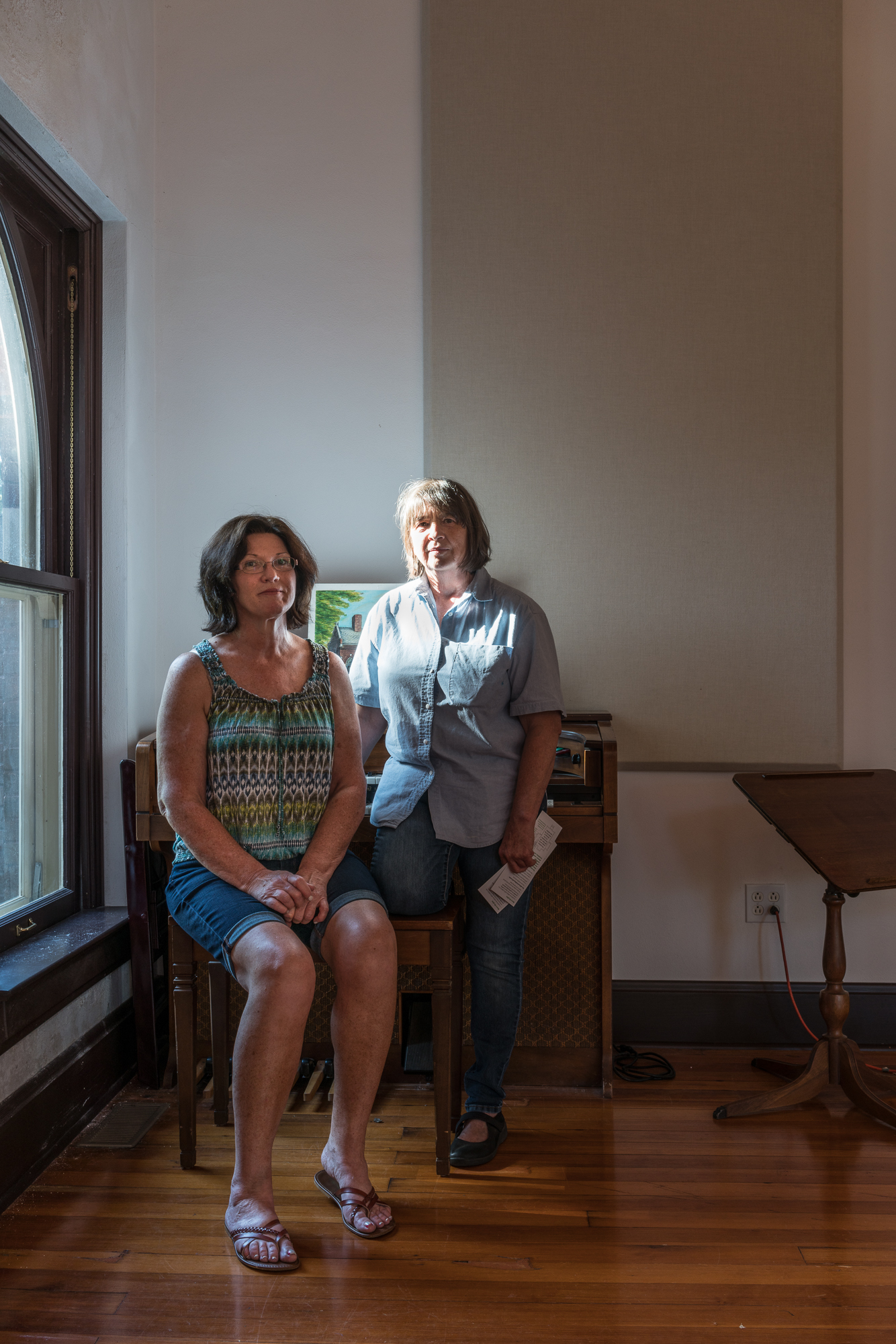 Cathy and Jeanne at the Espenchied Chapel, Mascoutah, Illinois,