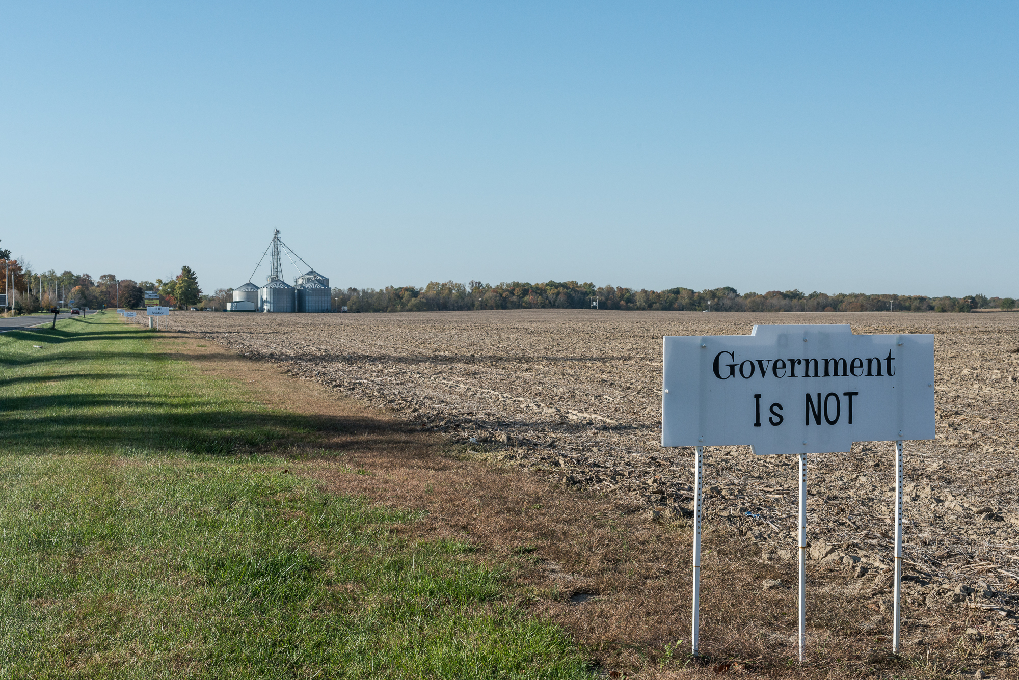 Government is not, near Spencer, Indiana, 2015