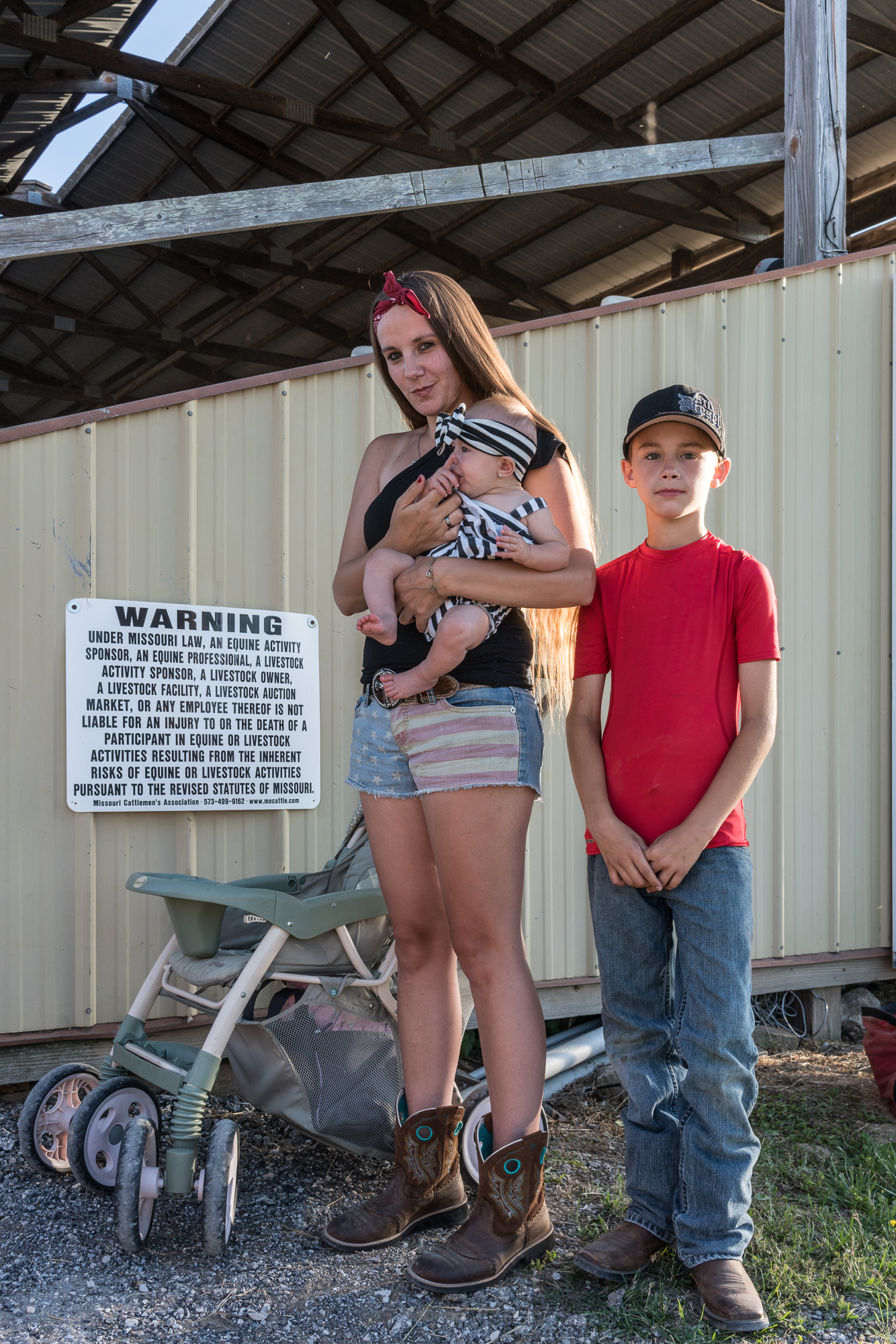 Nykie, Juliette, and Connor at the Jefferson County Fair, Hillsb