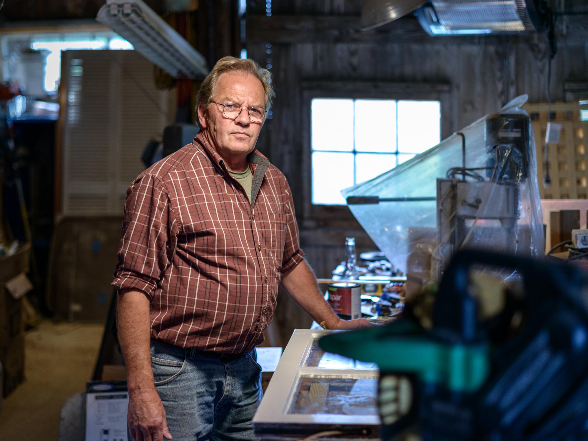 Tim in his Workshop, Waterford, Virginia, 2015