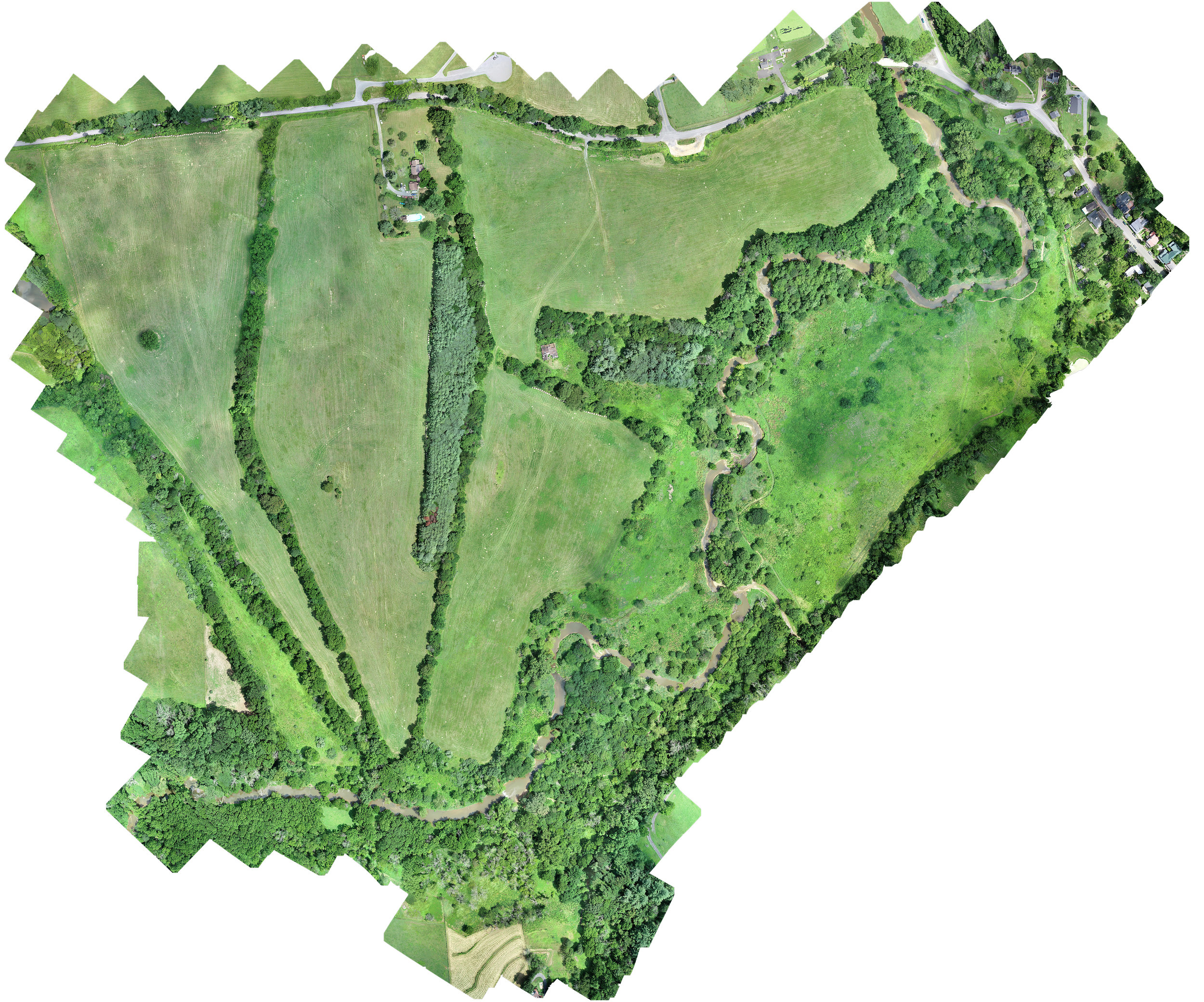 OrthoMosaic of the Phillips Farm, 144 Acres, Waterford, Virginia, 2019
