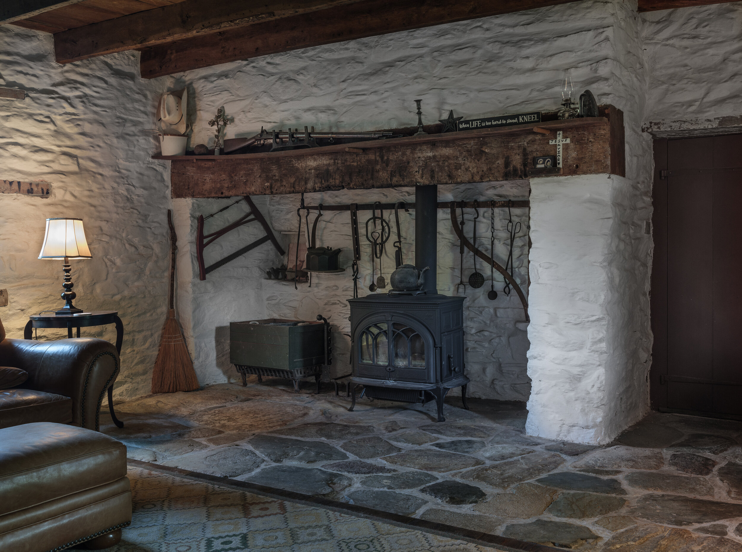 Fireplace, Hague Hough House, Waterford, Virginia, 2019