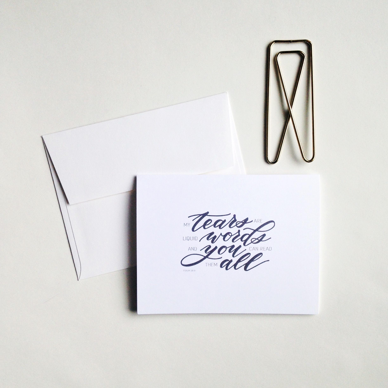 Tears Card by Raw Sugar Writes