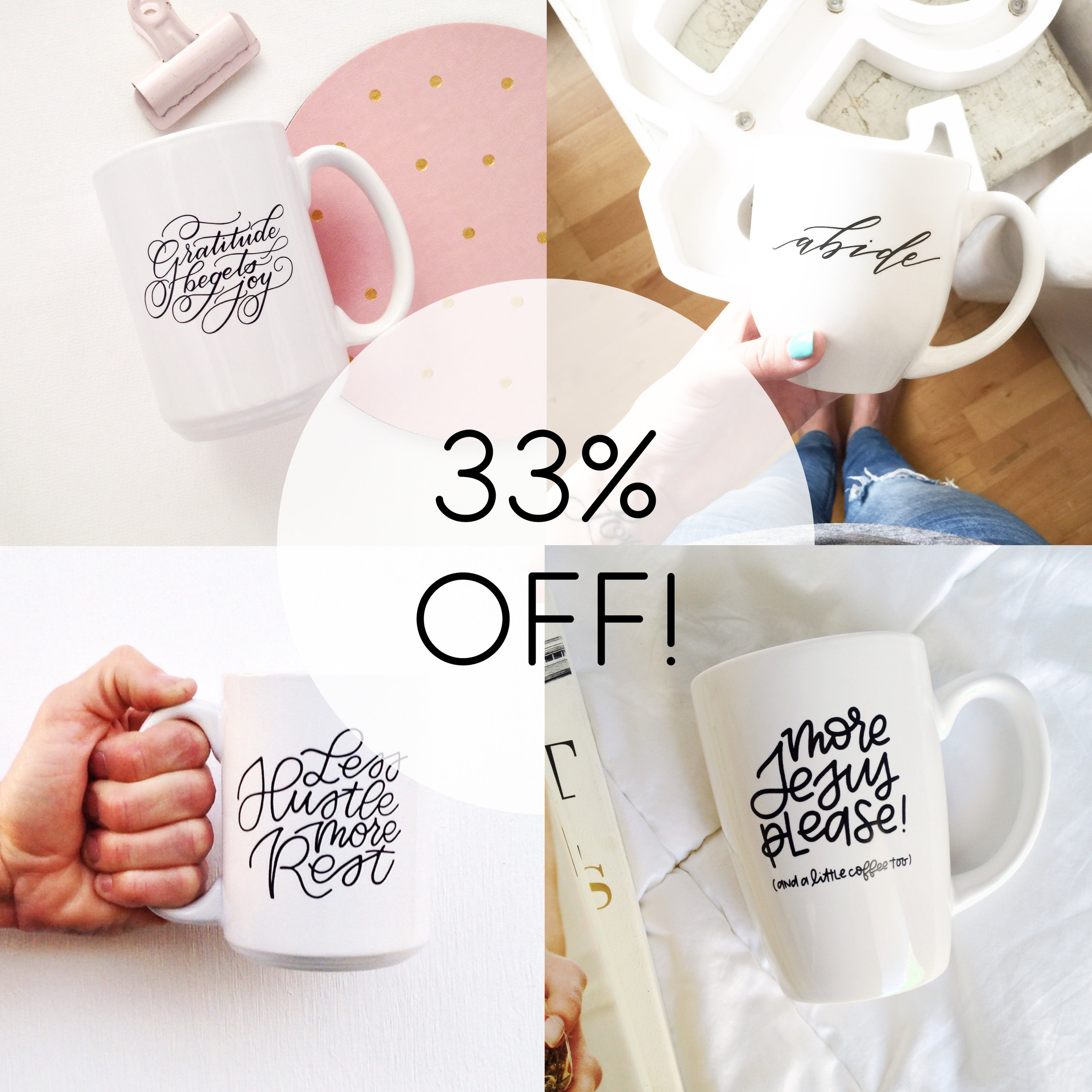 MUGS  : 33% OFF  (Sale Prices: $8-$10)