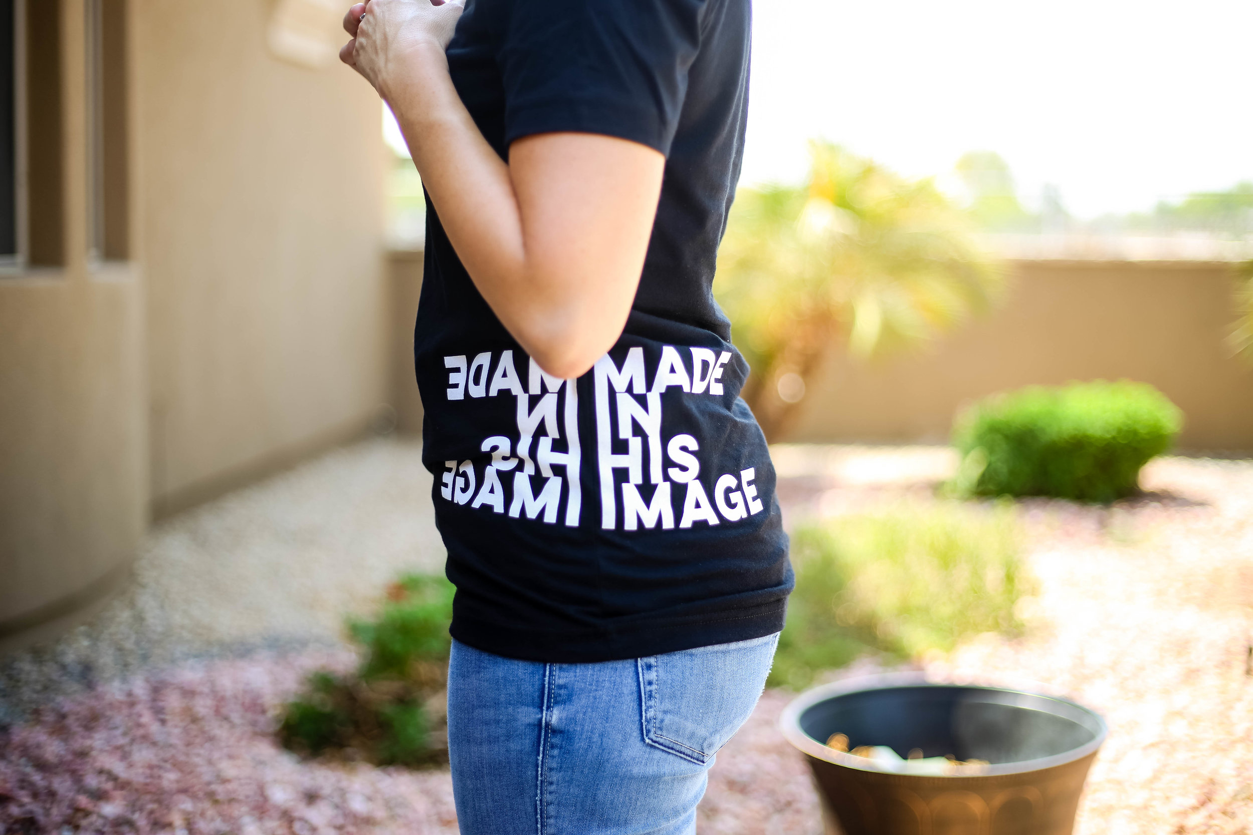 Raw Sugar Writes MADE IN HIS IMAGE TEE