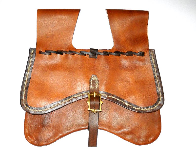 Renaissance Era Girdle Purse. While not a specific historic pattern, each element is based on extant historic pieces.