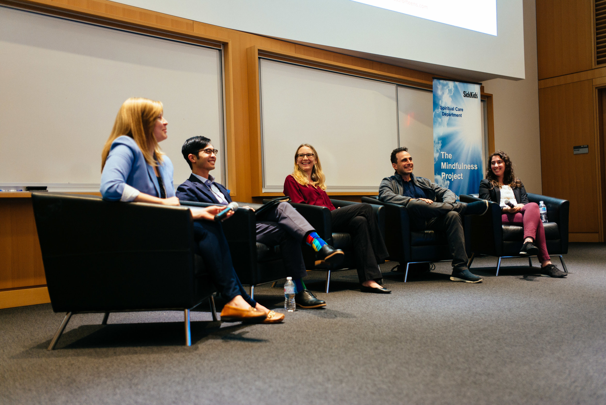 Afternoon panel from left: Sarah Ahola-Kohut, Dzung Vo, Anne Wheeler, Norman Farb, Elli Weisbaum