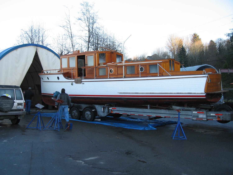 in progress:  entering boatyard