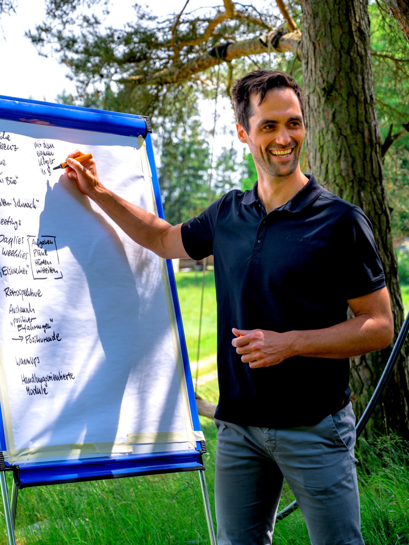 Beim Brainstorming mit Führungskräften am Beuerhof. Foto:  Stephan Brendgen