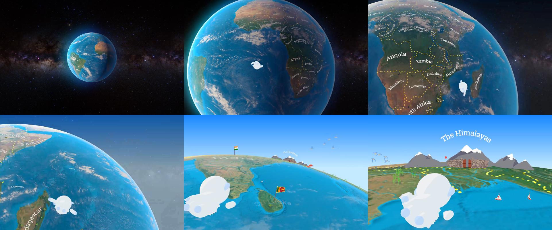 Animated app intro