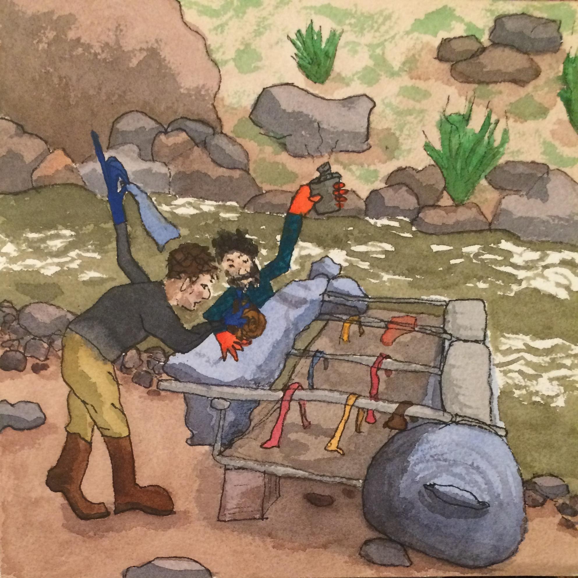 Grand Canyon - Raft Repair