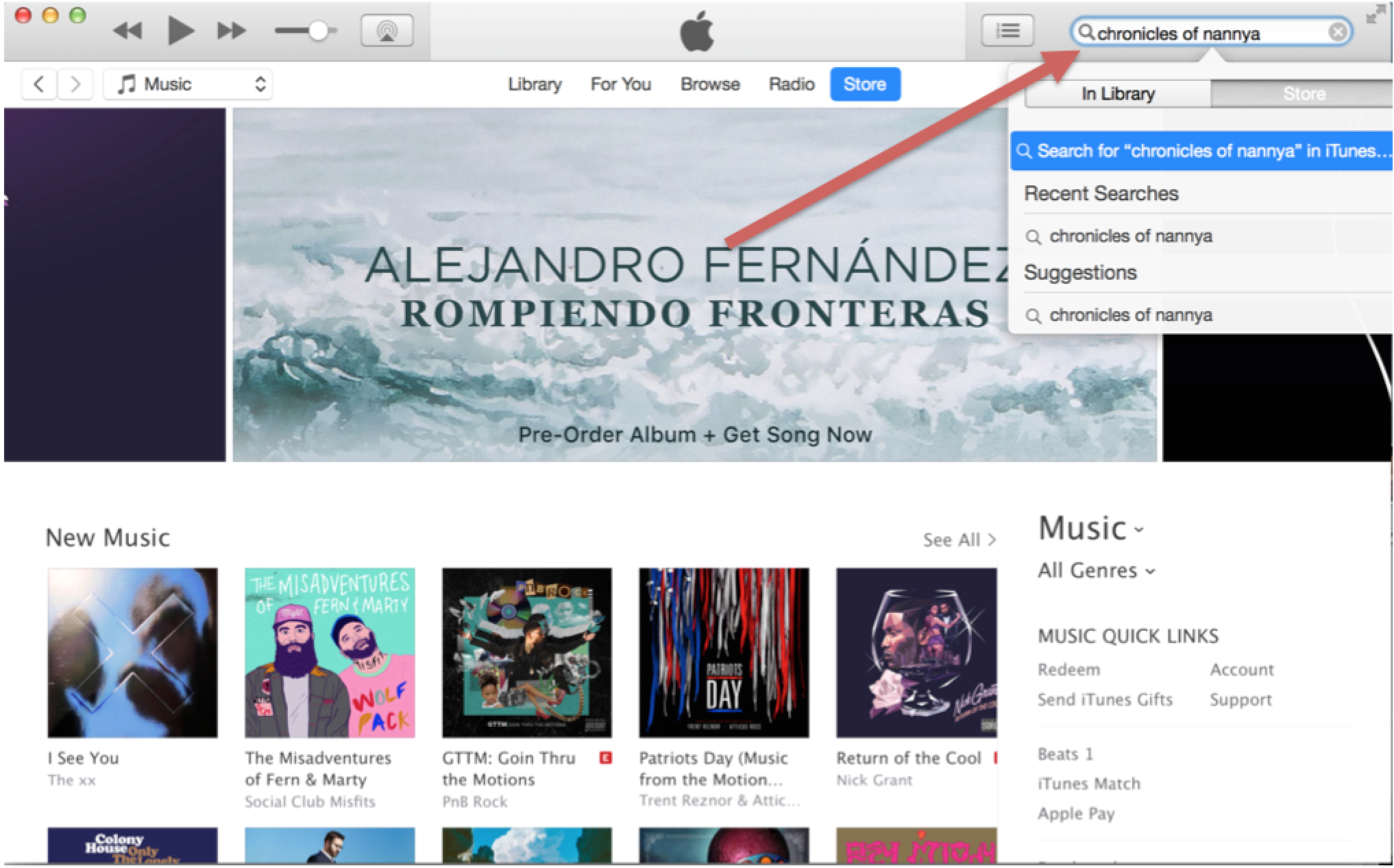 Step 3  Click on the correct item in the search results to be taken to its iTunes page.