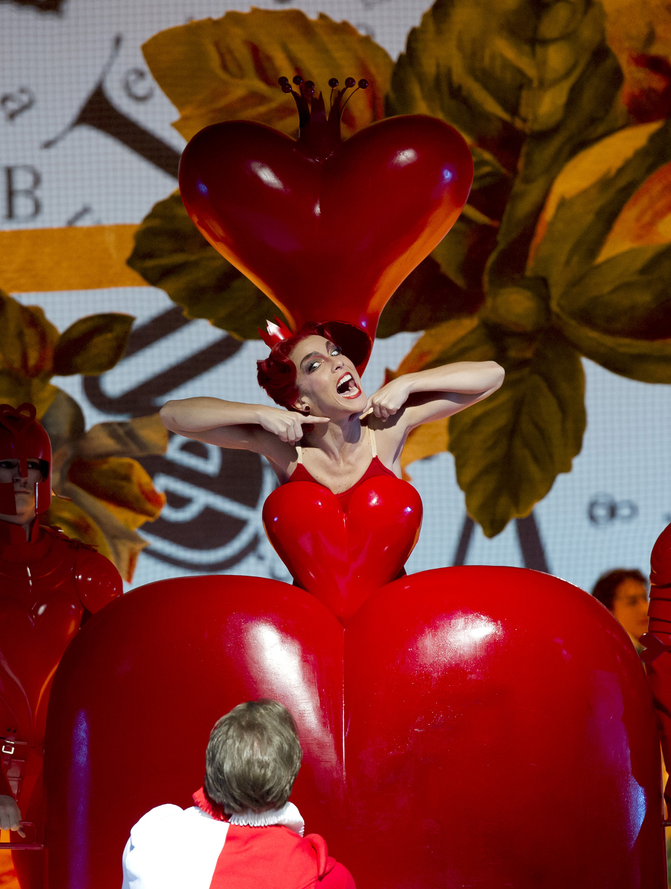 Larger than life Queen of Hearts!